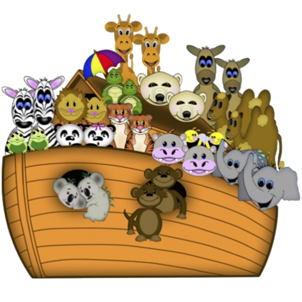 vector transparent Funny noah . Noahs ark clipart