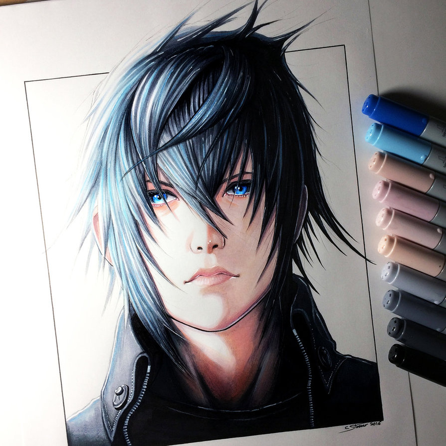 banner library noctis drawing real life anime #138287382
