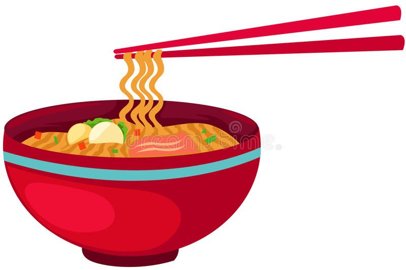 graphic free download Food with chopsticks hongkong. Noodles clipart illustration