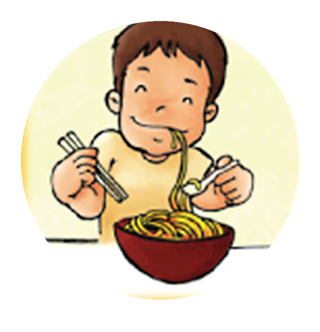 graphic free Slurp image group face. Noodles clipart illustration