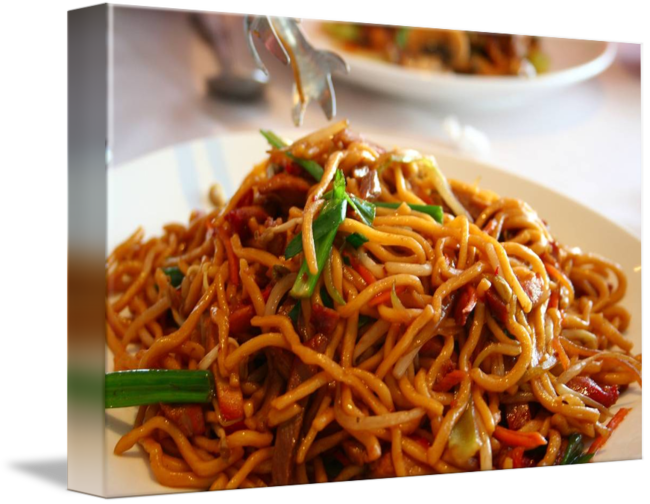 picture freeuse stock Pork Lo Mein Noodles by Patricia Flinsch