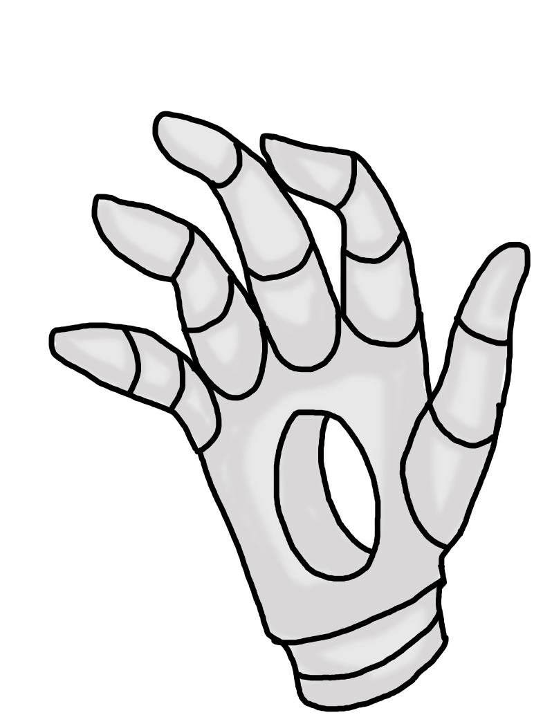 clip art free download Digitalized Gaster Hand by Noodle