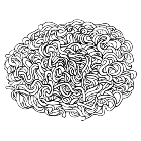 clip black and white download Noodle Drawing