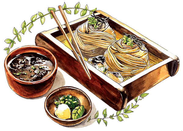 clip library library Japanese food illustration