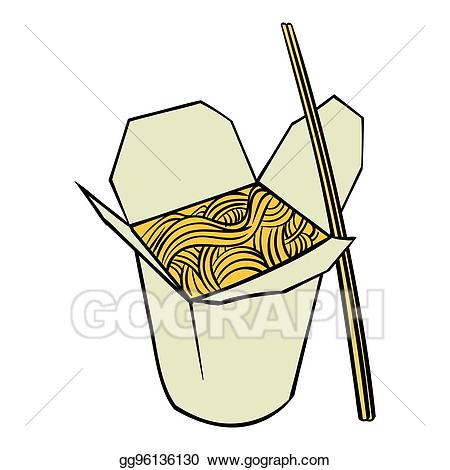 freeuse Stock illustration chinese noodle. Noodles clipart box.