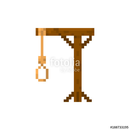 clip art transparent Pixel gallows for games and web sites