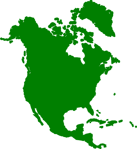 vector freeuse library North America Continent Clip Art