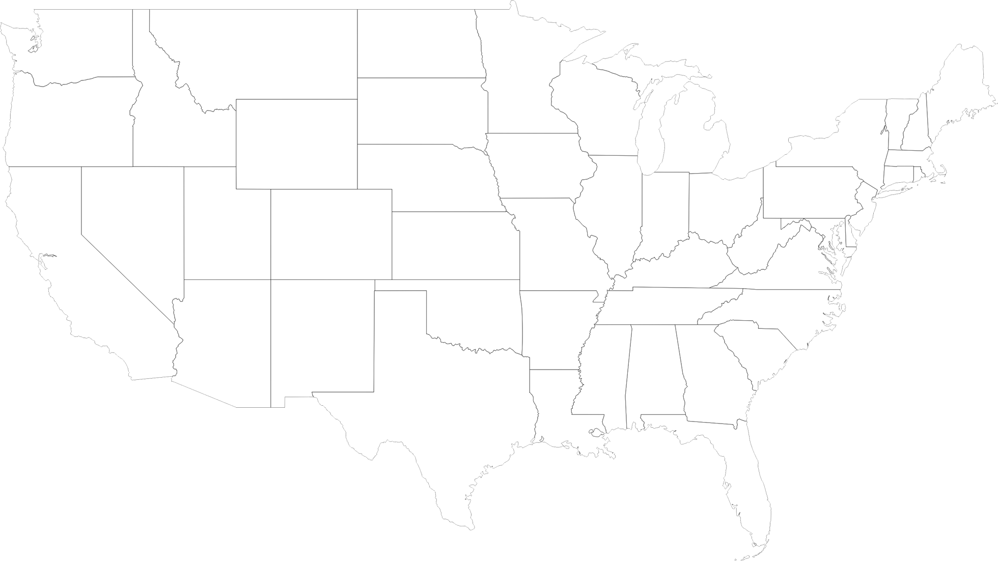black and white library North america map silhouette. Usa transparent white