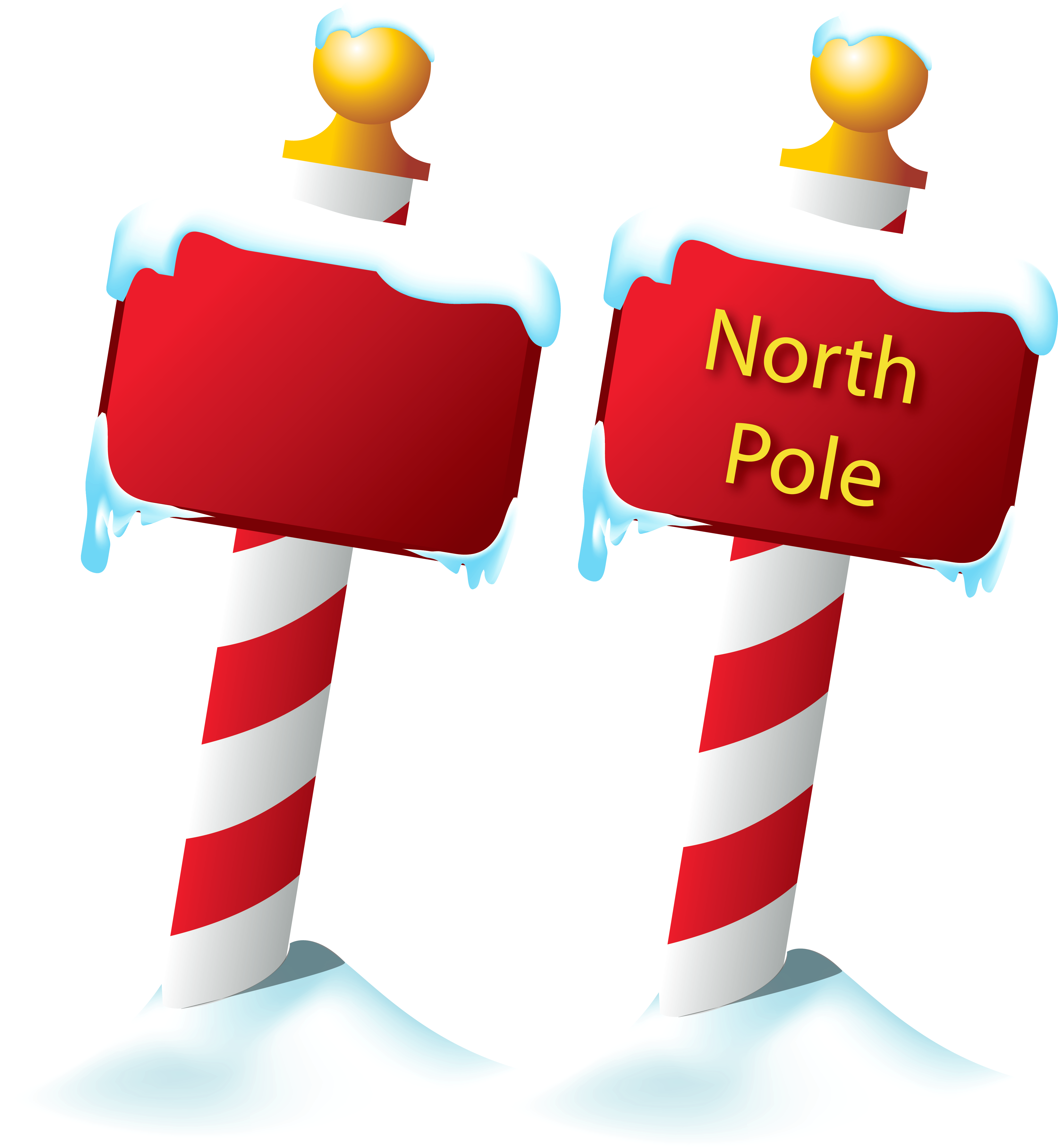 graphic freeuse download Sign png picture gallery. North pole clipart