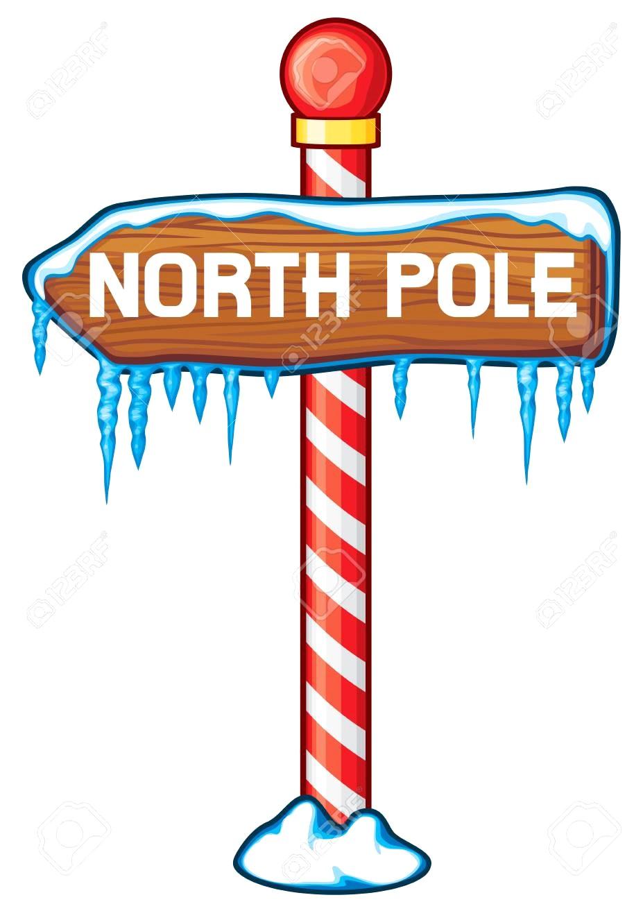 transparent download Sign station . North pole clipart