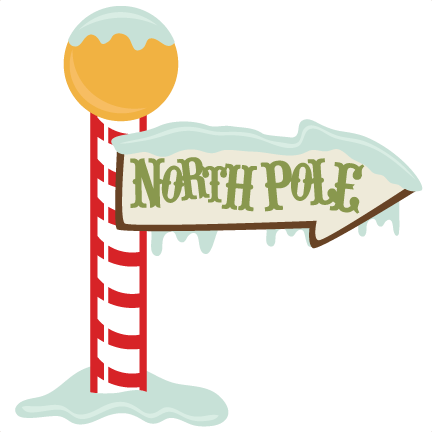 image royalty free library Sign santa claus transparent. North pole clipart