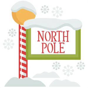 jpg free Christmas sign svg my. North pole clipart