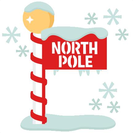 clip freeuse stock North pole clipart. Sign scrapbook title winter