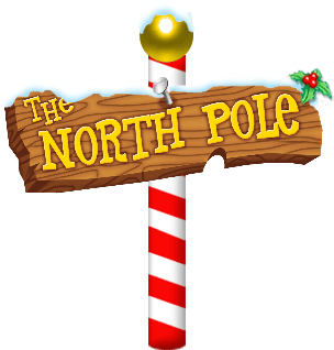 black and white library North Pole Santa Claus transparent PNG