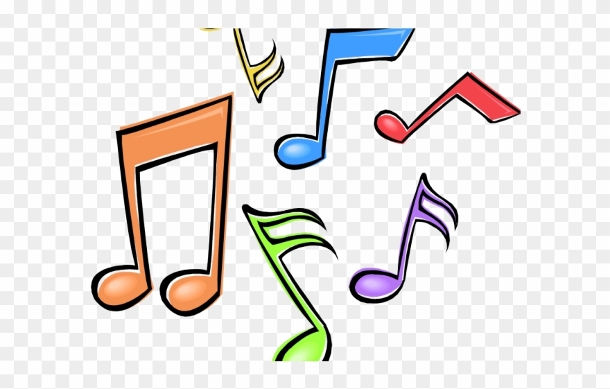 graphic royalty free Music colorful notes png. Note clipart.