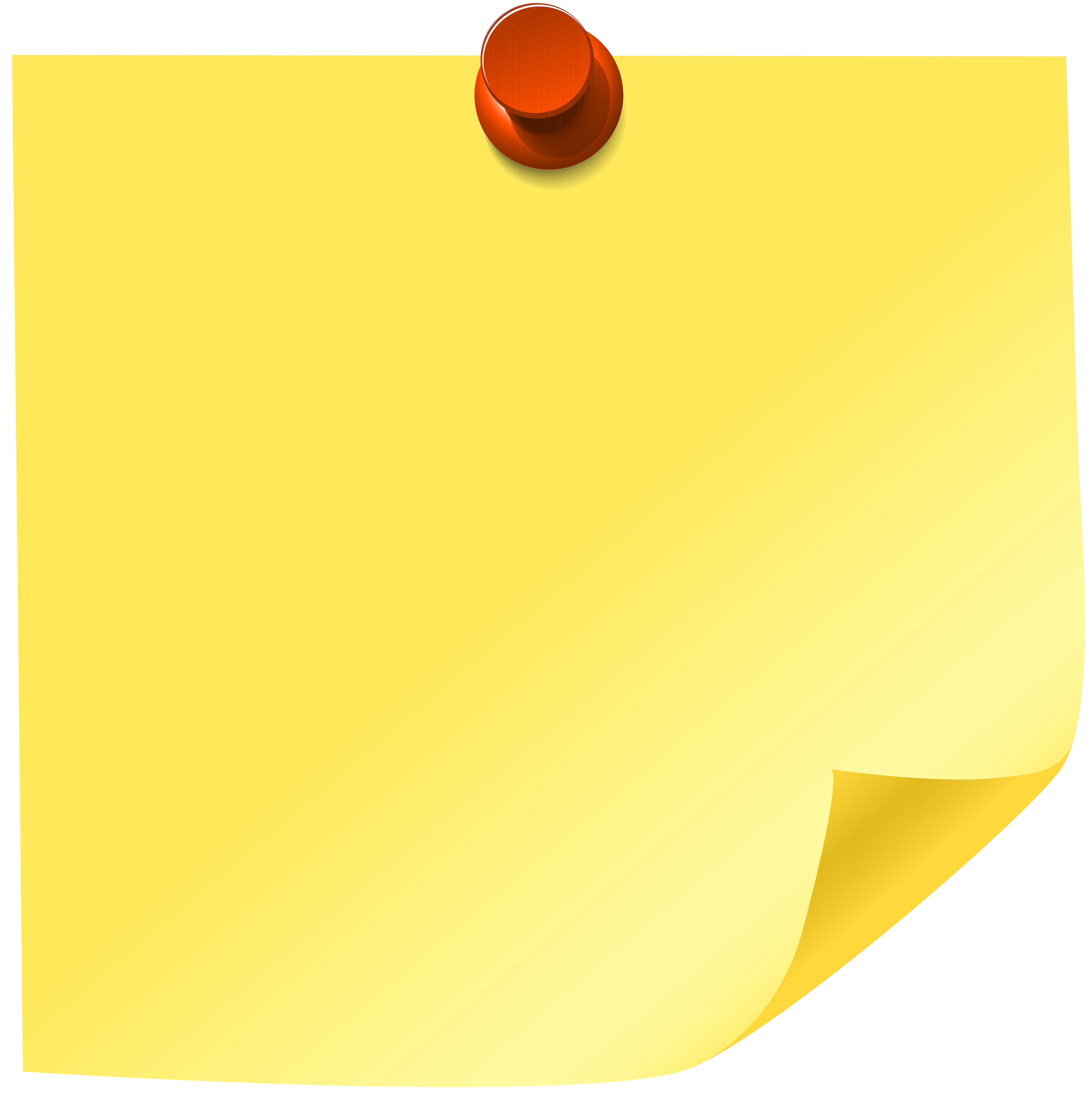 graphic free library Yellow sticky png clip. Note clipart.