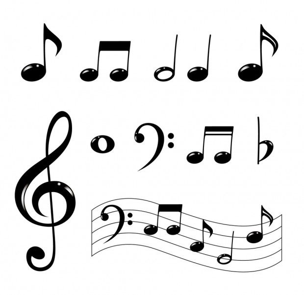 banner free stock How to draw music. Note drawing