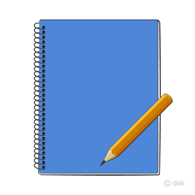 clip art freeuse And pencil free picture. Notebook clipart