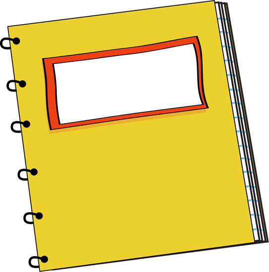 vector library stock School Notebook Clipart