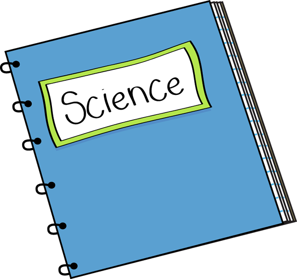 clip black and white library Notebook clipart. Science
