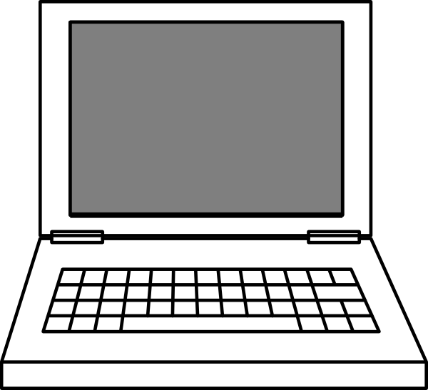 clipart black and white stock Laptop clip art at. Drawing laptops
