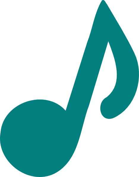 clip download Notes clipart. Music teal free on