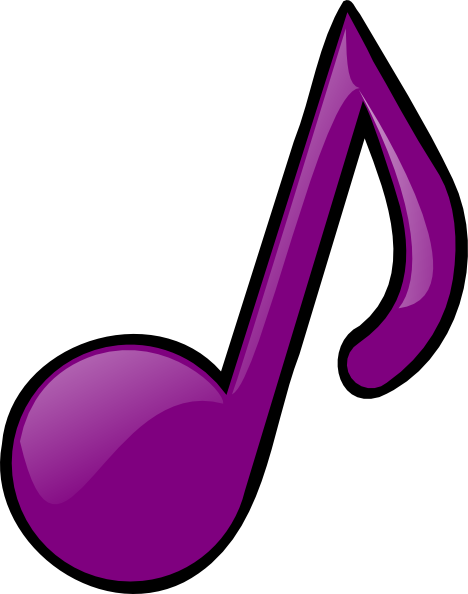 banner transparent stock Purple Eighth Note Clip Art at Clker