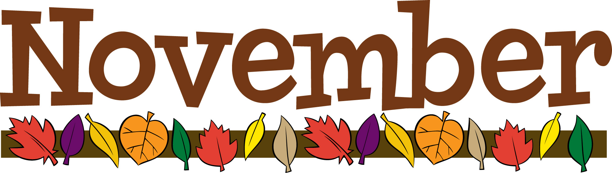 banner black and white library November clipart. Free pictures clipartix .