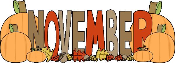 graphic royalty free Fancy design calendar heading. November clipart.