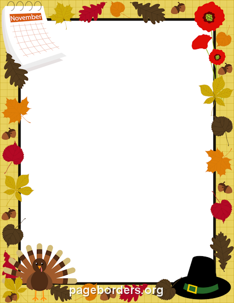 clip black and white download Pin by muse printables. November clipart border