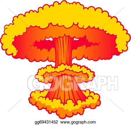 banner royalty free Eps illustration explosion vector. Nuke clipart.