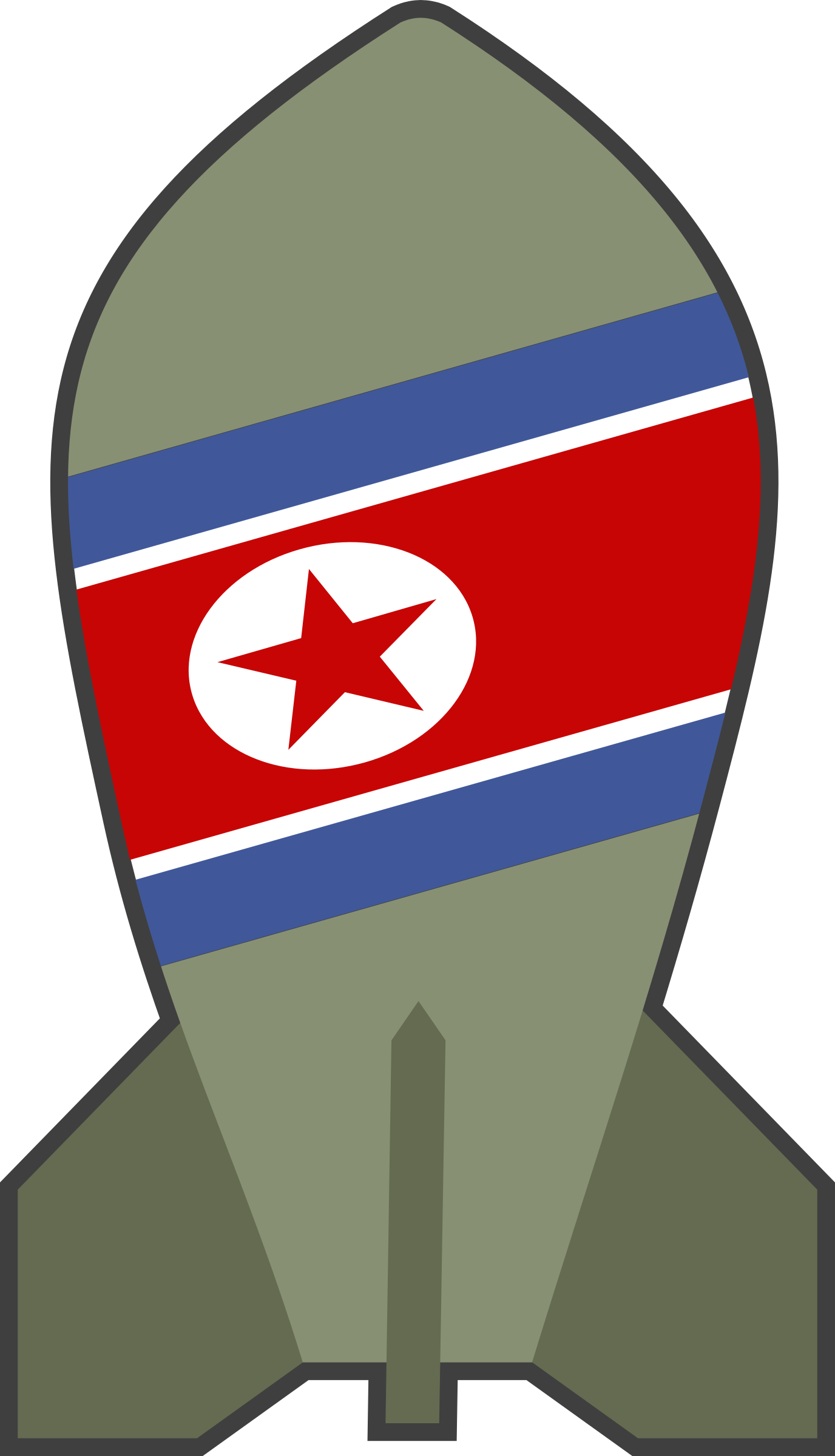 graphic black and white stock Simple cartoon north korea. Wars clipart war bomb