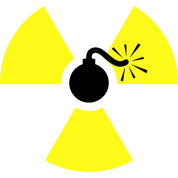 clip black and white stock Nuke clipart tnt bomb. Nuclear radioactive symbol by