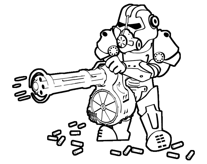 royalty free Collection of free Fallout drawing