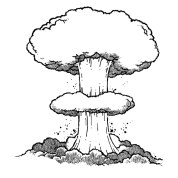 svg stock Nuke drawing.  collection of high