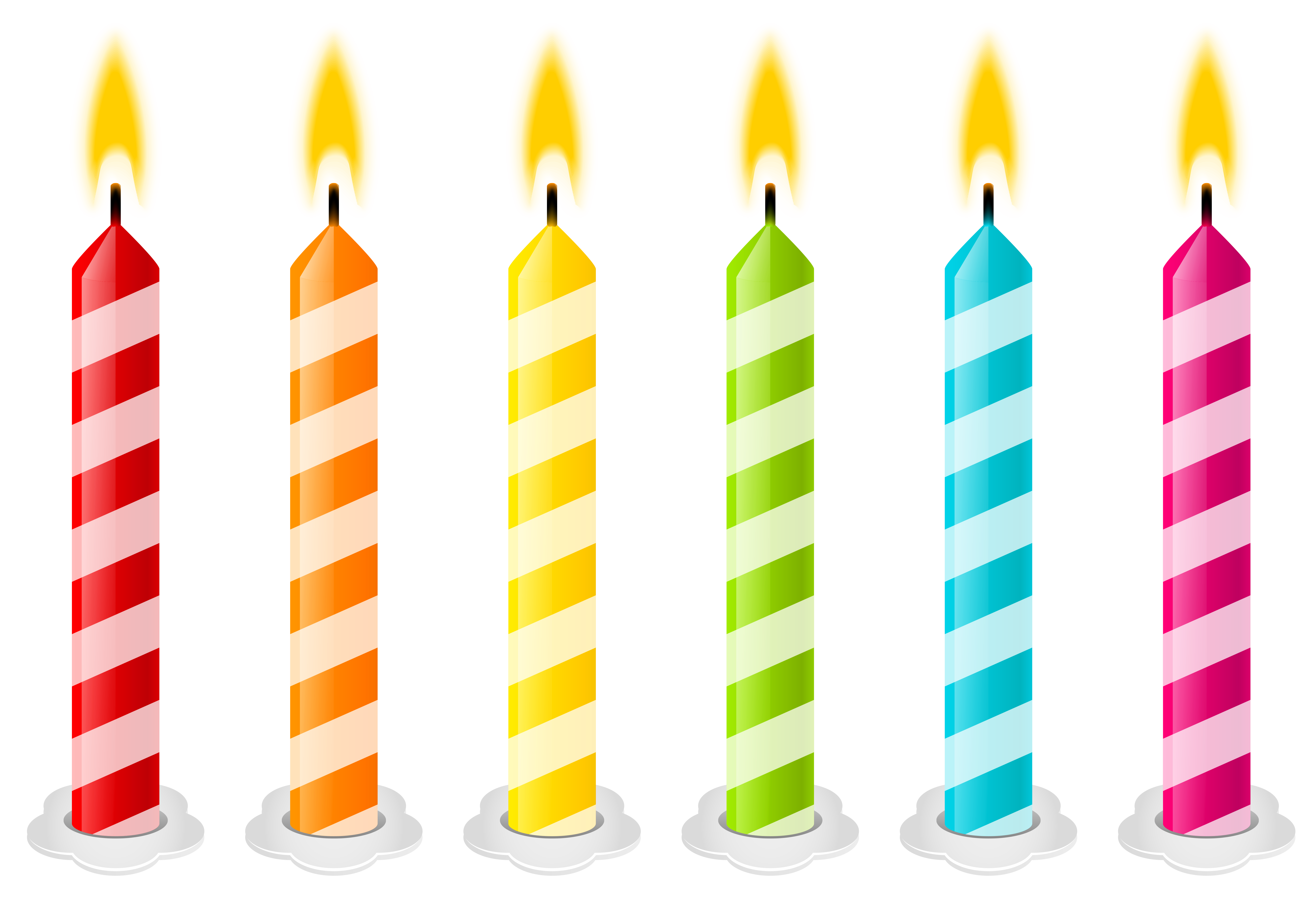 clip transparent Transparent candle birthday. Candles png vector clipart