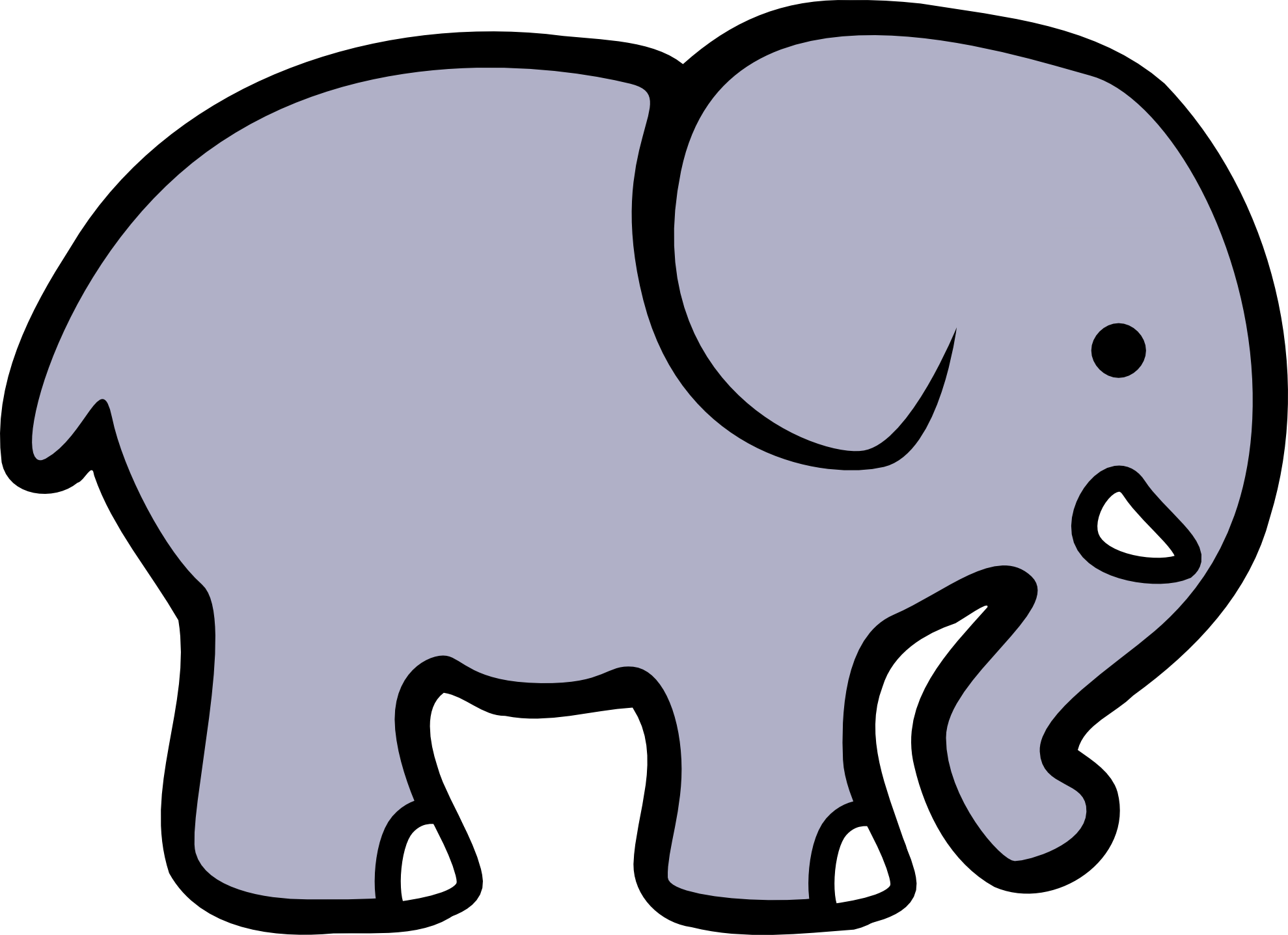clipart Elephant Clip Art Silhouette at GetDrawings