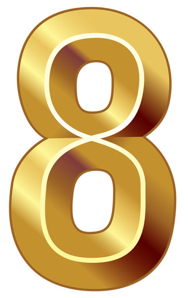 picture freeuse stock Number clipart. Gold eight png image