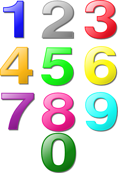 svg royalty free library Jumbled Numbers Clipart