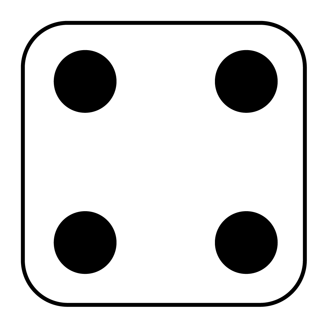 vector 4 dice clipart #56501770