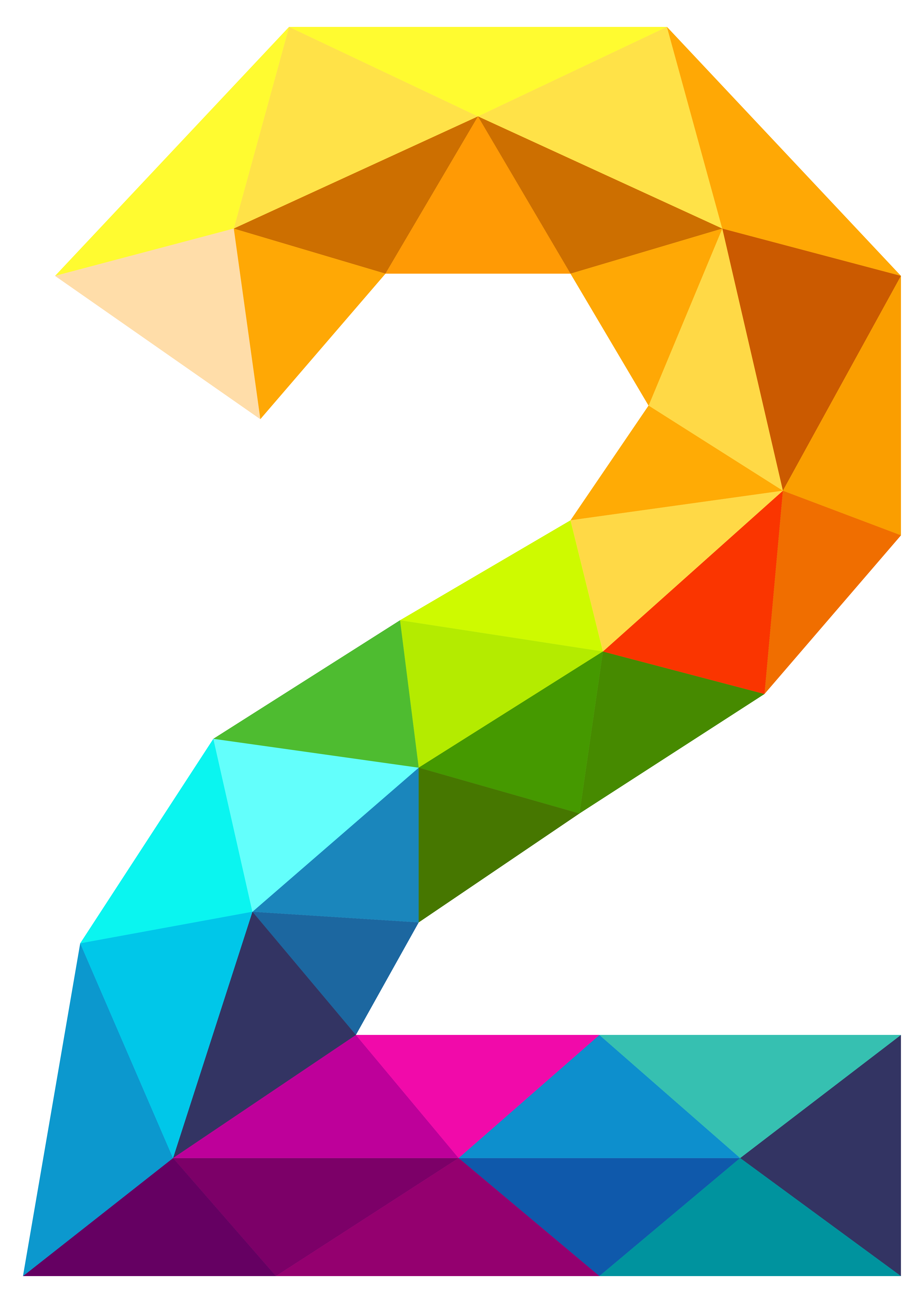 jpg library library Colourful Triangles Number Two PNG Clipart Image