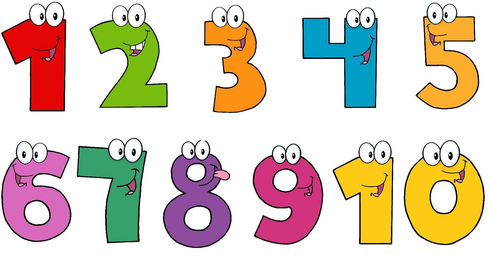 vector freeuse Numbers clipart. Pictures of number printable