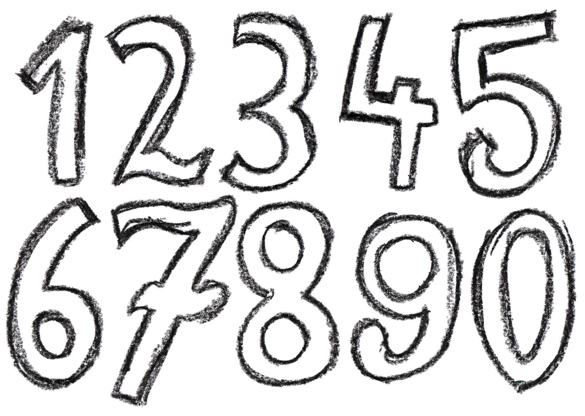 clipart royalty free library Numbers transparent. Crayon number png onlygfx.