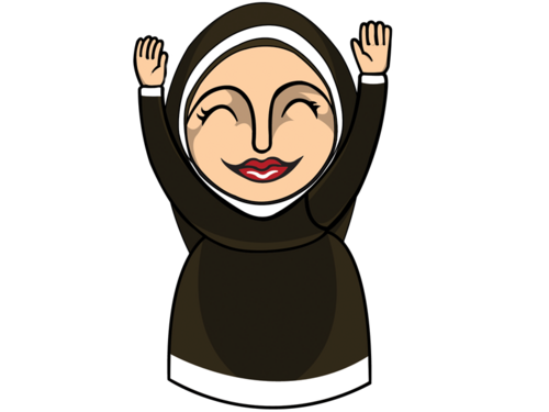 jpg royalty free Nun clipart. Free catholic cliparts download.