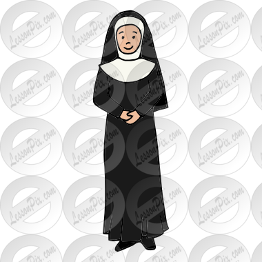 image free stock Picture for classroom therapy. Nun clipart.