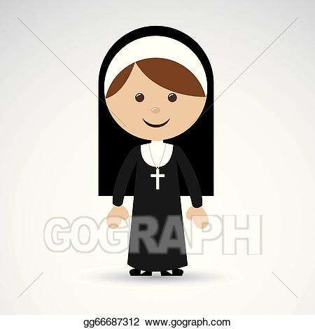 svg transparent Nun clipart. Vector design illustration gg.