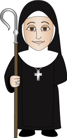 picture black and white Monks And Nuns Clipart