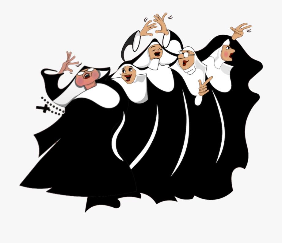 transparent Nun clipart dancing. Nunsense the musical cliparts