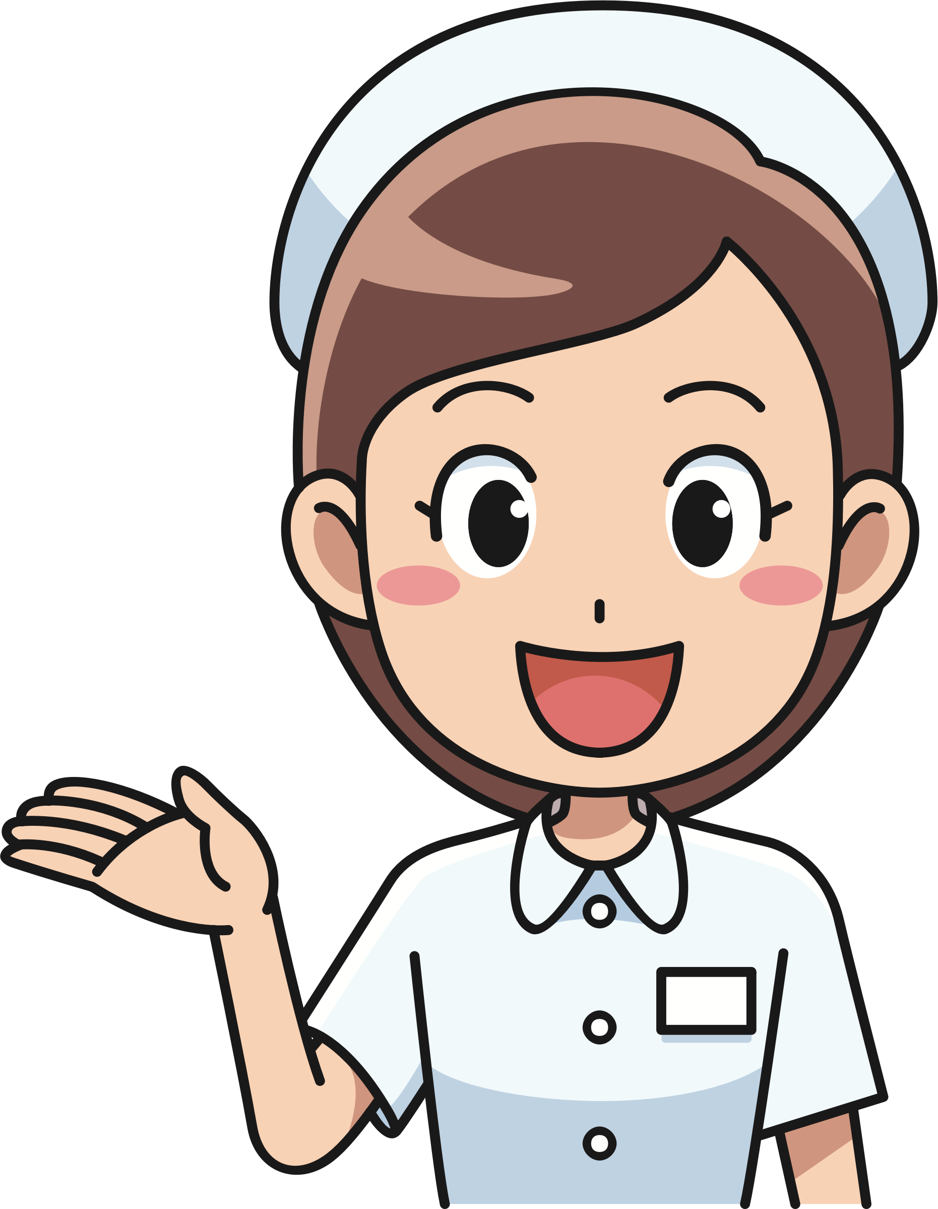 graphic library library Nurse clipart. Cheerful big image png.