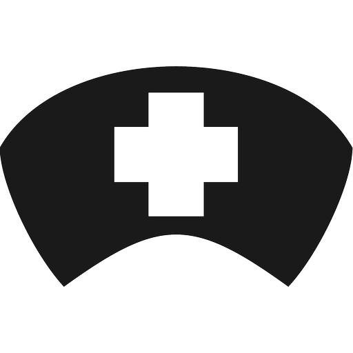 clip stock Top Of Nurse Hat Clipart Black And White
